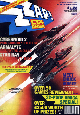 Zzap64 Amiga 43 issue 1 cover - now a C64/Amiga mag